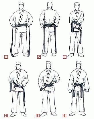 Como amarrar correctamente el cinturón de taekwondo